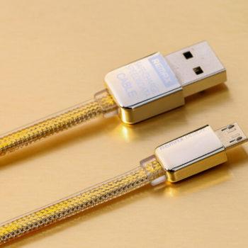 สายชาร์จ Remax Gold Samsung / Android / Micro usb